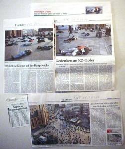"""Presseberichte über die Aktion """"Fallen"""""""